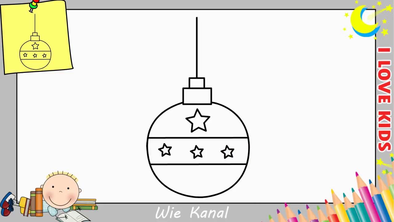 weihnachtskugel zeichnen lernen einfach schritt für