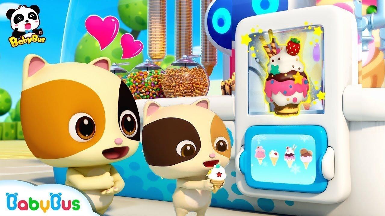 Mèo con dễ thương và những que kem ngon tuyệt | Gia đình mèo con | Nhạc thiếu nhi vui nhộn | BabyBus