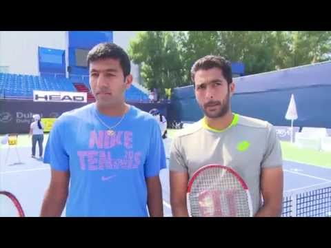 Bopanna And Qureshi Visit Delights Youngsters At Tennis Emirates Head Clinic