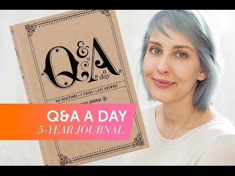 Q&A A Day // Book Review // 1 Year After // 5-Year-Journal