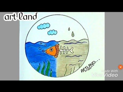 رسم عن التلوث البيئى Art 3