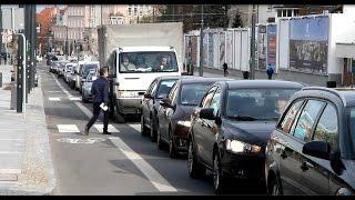 Poranny szczyt po zamknięciu ul. Pieniężnego w Olsztynie