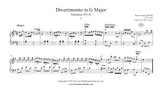 Haydn : Divertimento in G Major, Hob. XVI:8 (I : Allegro)