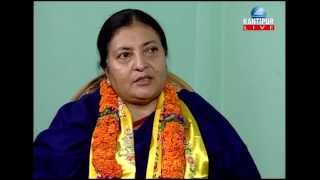 Bidhya Bhandari, 1st Female President of Nepal in TOUGH talk with Dil Bhusan Pathak