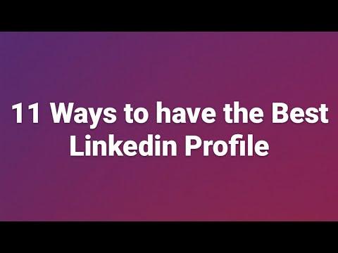 11 Ways to have the Best Linkedin Profile | Umer Farooqi
