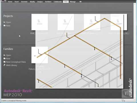 Revit Mep 2010 Tutorials - Part 11/16: Designing Fire Protect Systems