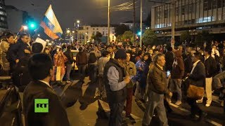 Movilización en Quito, Ecuador, contra paquete de medidas de Lenín Moreno