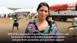Priti Patel meets refugees from the violent conflict in South Sudan