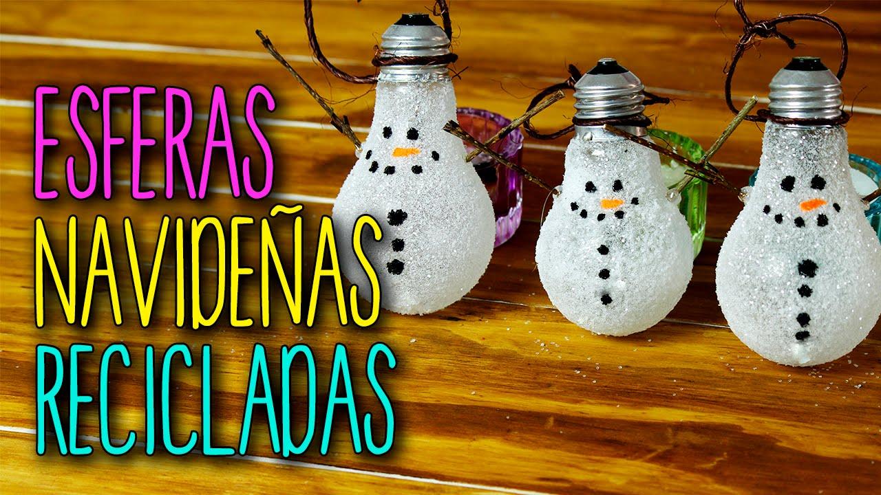 Esferas navide as recicladas manualidades para navidad f cil diy navidad catwalk youtube - Cosas de navidad para hacer en casa ...