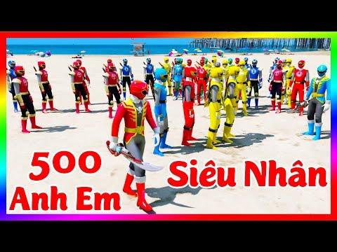 GTA 5 Mods - Siêu Nhân Cuồng Phong & 500 Anh Em Siêu Nhân Hải Tặc GOKAIGER | GTA5MODAZ