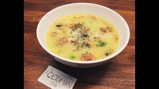 Сырный суп с шампиньонами и брокколи: рецепт от Foodman.club