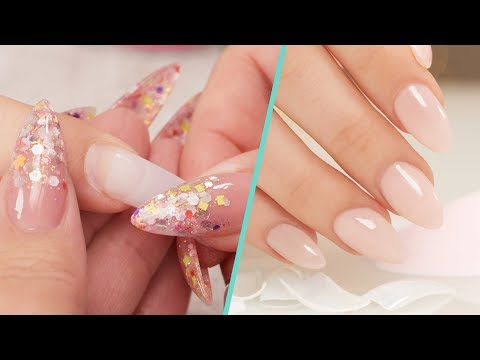 How To Apply Nail Tips with Acrylic Overlay - Step by Step Tutorial