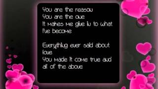 Sarah & Koen - You Are The Reason (Lyrics)