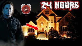 MICHAEL MYERS 24 HOUR CHALLENGE at a STRANGERS HOUSE | DISGUISED AS MICHAEL MYERS OVERNIGHT PRANK!