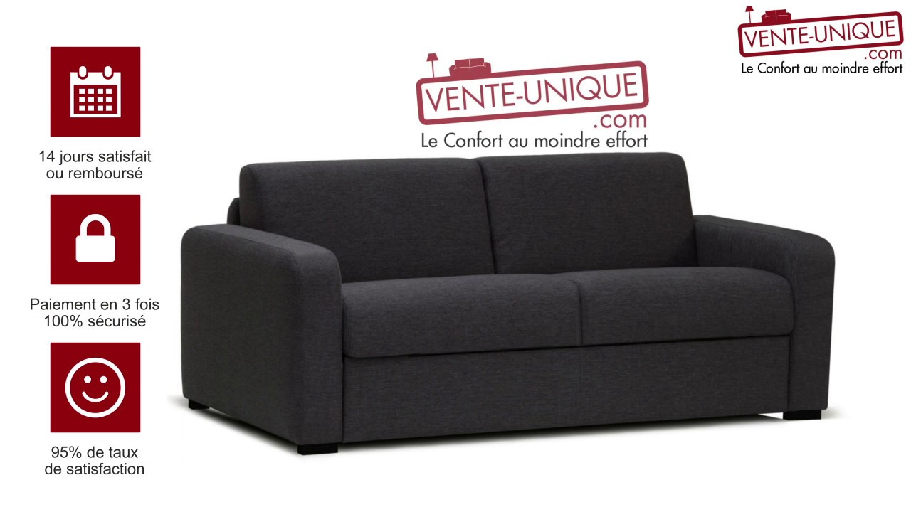 Canape Convertible Will Canapé Convertible 3 Places En Tissu Flavien