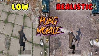 PUBG MOBILE Realistic VS Low Graphics
