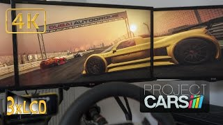 Project CARS | Gumpert in rainy Dubai ;) | driver's eyes | Ultra 4K triple