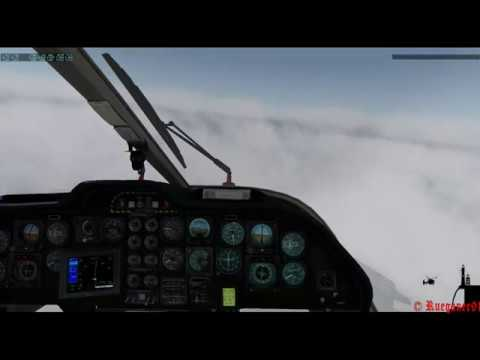 [HD] DHBMS Bk 117C1 Offshore ILS Approach Training in Heringsdorf I Xplane 10