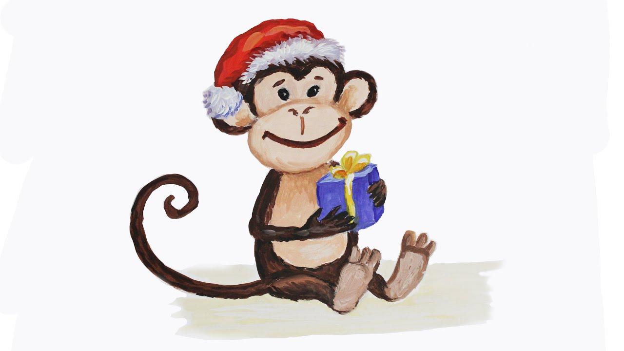 Как нарисовать акварелью открытку на новый год