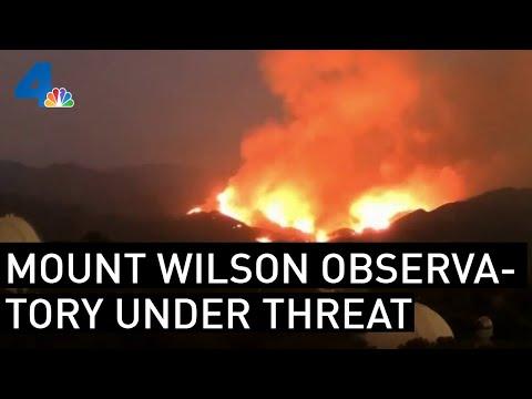 Mt. Wilson Observatory, Monrovia Under Threat of Bobcat Fire | NBCLA