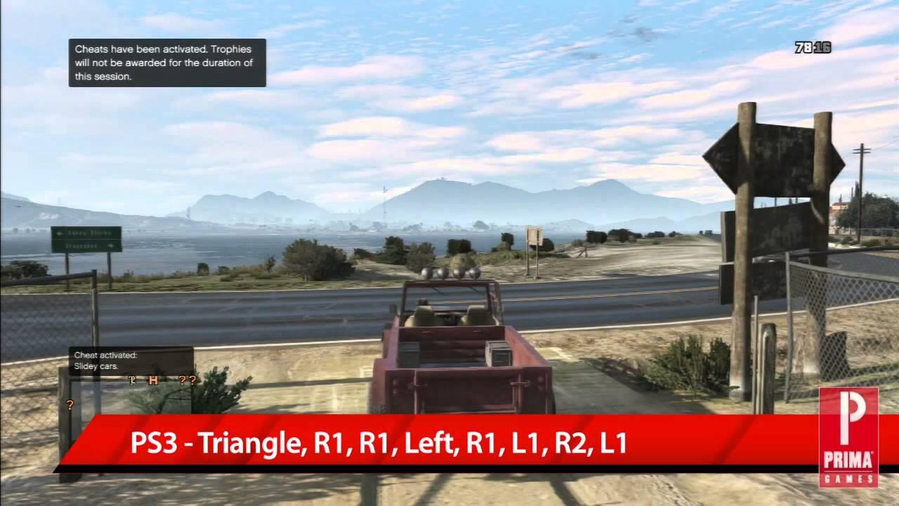 GTA 5 Cheats: Sliding Cars