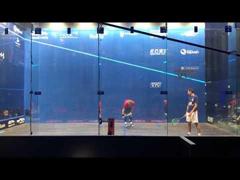 British Open Squash 2018 Round One final game Nick Matthew v Tarek Momen