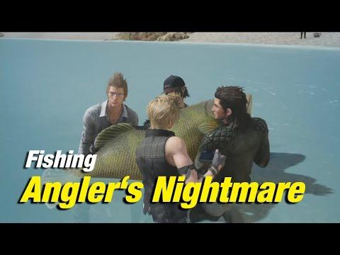 Final fantasy xv fishing angler 39 s nightmare devil of for Final fantasy 15 fishing gear