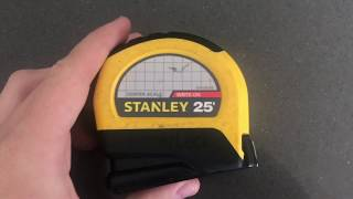 ✅  How To Use Stanley LeverLock 25 Foot Tape Measure Review