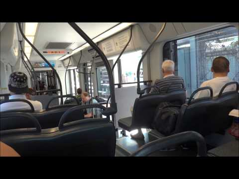 Riding Valley Metro Light Rail from University Drive/Rural Road to 44th Street Phoenix, AZ