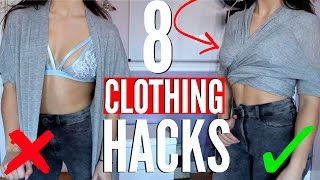 8 Clothing Hacks EVERY Girl MUST Know !!