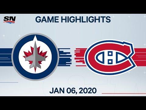 NHL Highlights | Jets Vs Canadiens – Jan. 6, 2020
