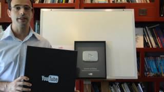 YouTube Silver Play Button - Reconocimiento de YouTube a Aprender con Rodrigo