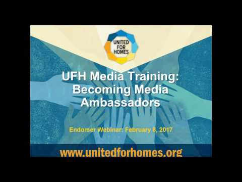 United for Homes - Media Training