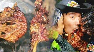찬열, 차원이 다른 '멧돼지 바비큐' 먹방 @정글의 법칙 20150904