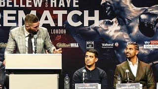 Tony Bellew vs David Haye Rematch PRESS CONFERENCE with loud Liverpool crowd