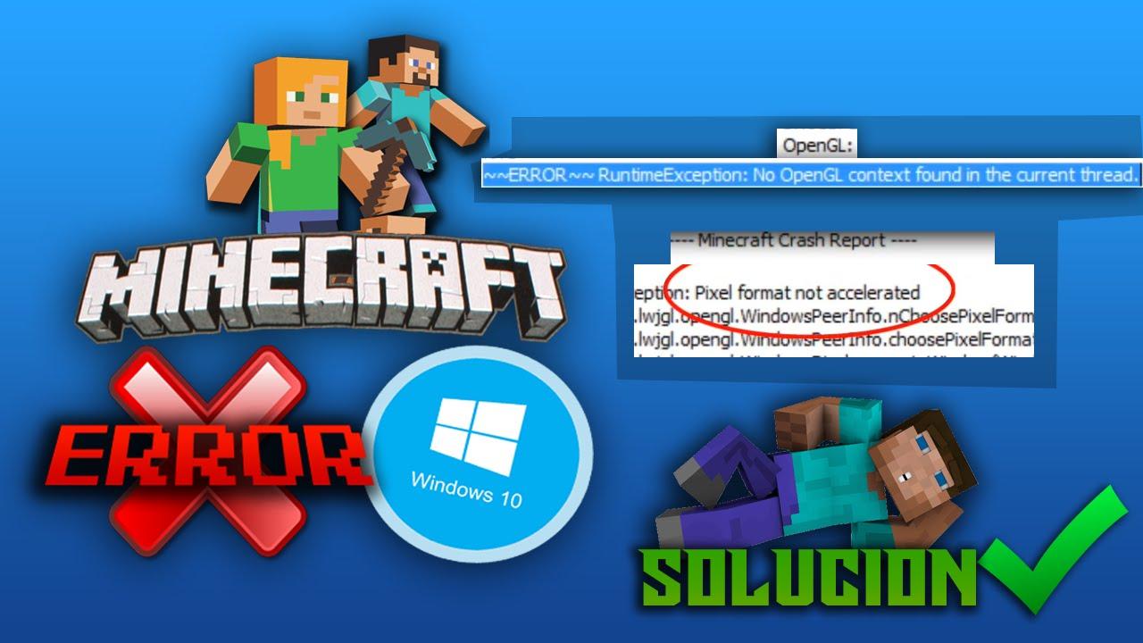 Fixed] error: org. Lwjgl. Lwjglexception: pixel format not.