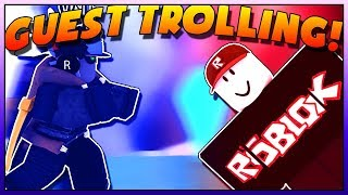 TROLLING AS A GUEST IN SUPER POWER TRAINING SIMULATOR! (ROBLOX)
