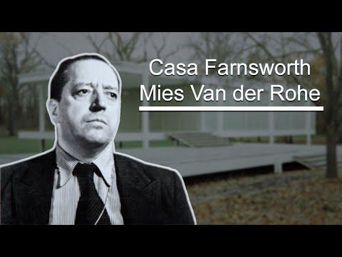 Casa farnsworth ludwig mies van der rohe youtube for Casa minimalista de mies van der rohe