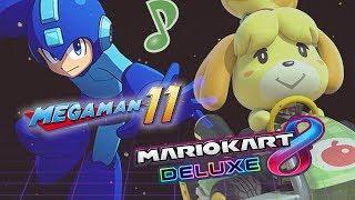 LLEGÓ LA LUZ - Noche de Mario Kart 8 DLX ( Previous game MEGA MAN 11 )