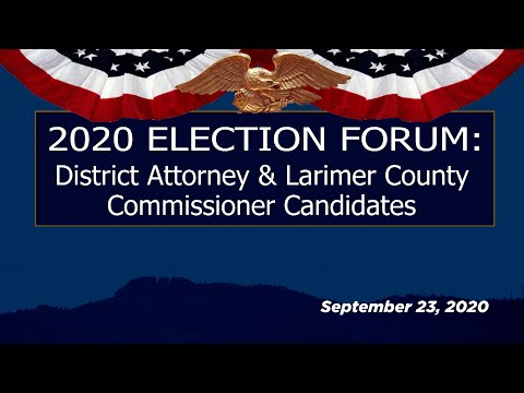 view 2020 Election Forum - County Commissioners & District Attorney video