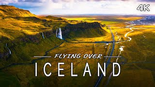 Flying over Iceland: Nature Scenery with Ambient Music (4K UHD Drone Film)