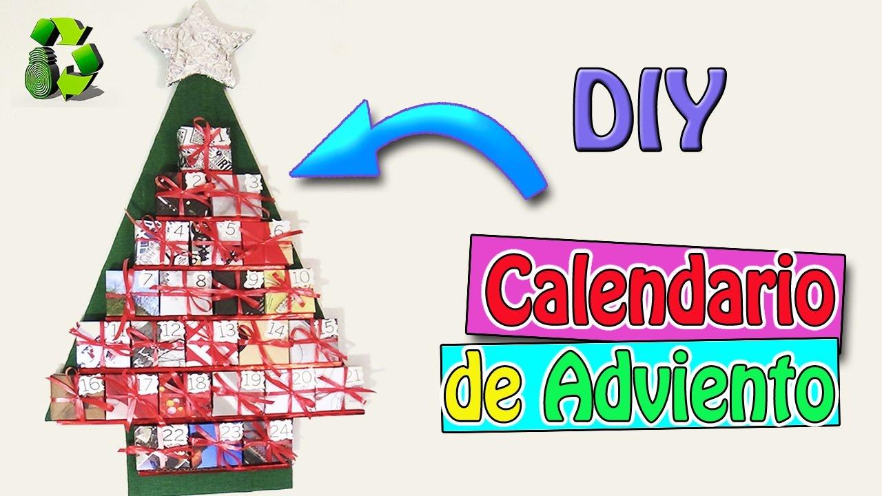 Calendario de Adviento Manualidades para Navidad Reciclaje