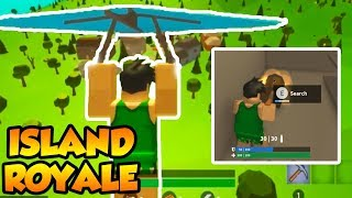 MY FIRST GAME OF ROBLOX FORTNITE!! (Island Royale)