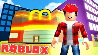 MY OWN MCDONALD'S IN ROBLOX!