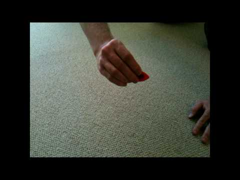 How to Sharpen Your Guitar Pick on the Carpet (higher quality)