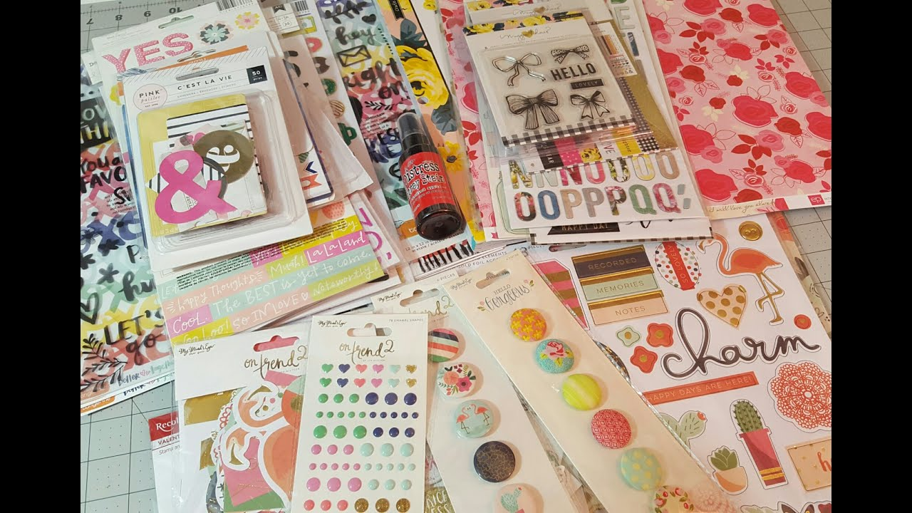 Scrapbook Haul The Ink Road Paper Issues And All Scrapbook Steals