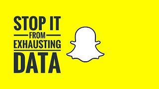 How to STOP Snapchat from Exhausting Data? | Save Battery Life | Android | Tips and Tricks