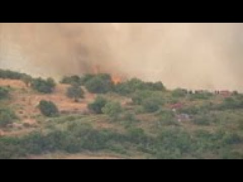 4th wildfire breaks out on Greek island of Evia