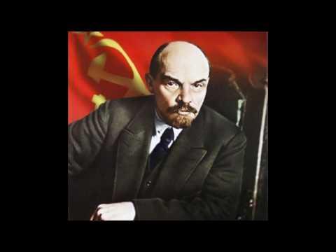 Речи В.И.Ленина (живой голос). Фото В.И.Ленина. Музыка СССР.
