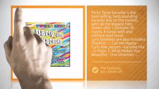 Party Tyme Karaoke Tween Hits Volume 1 CD+G (8+8 songs) !--PTKTH1--  - http://www.shoptronics.com/